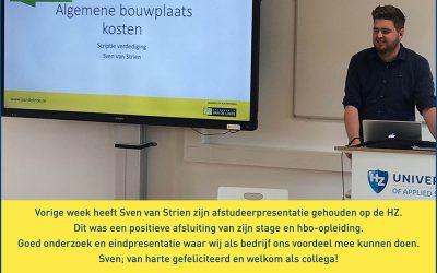 Goed onderzoek en eindpresentatie van Sven van Strien